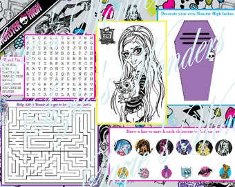 Monster High Printables by SuziesPartyShop on Etsy