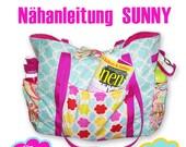E-Book / Nähanleitung / Schnittmuster - SUNNY  - WICKELTASCHE - STRANDTASCHE - Shopper-