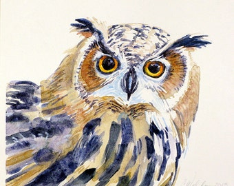 Original Owl Painting