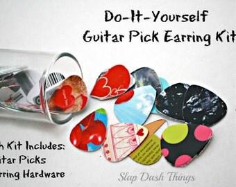 Guitar Pick Earring Making Kit - Make 6 Pair