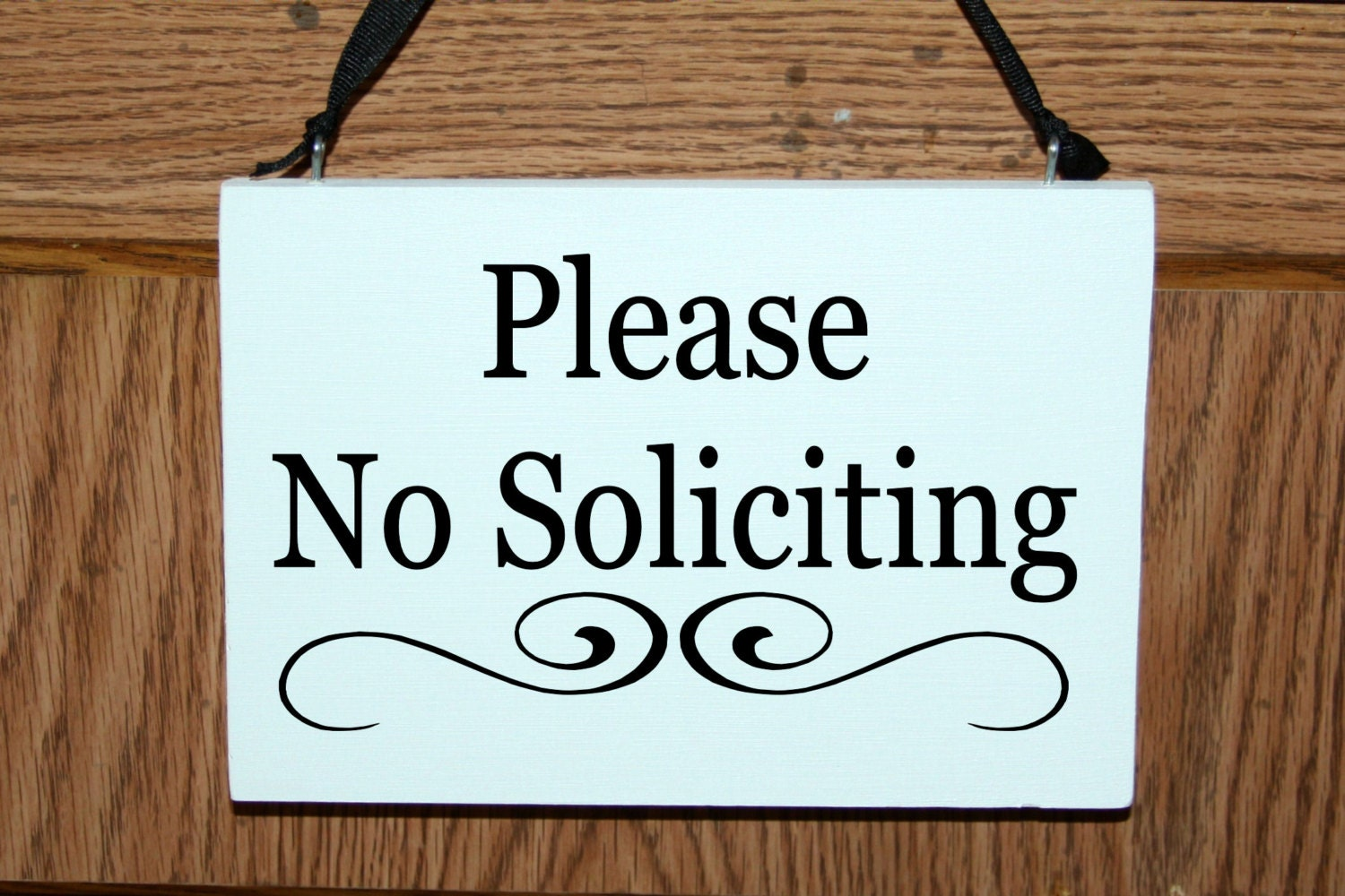 Please No Soliciting Door Hanger Sign