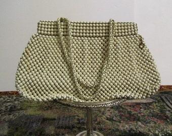 Vintage whiting and Davis purse, vintage purse, beaded purse, mesh purse, purse,bag