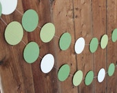Paper Garland: Green and White 10 feet