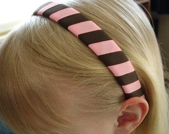 Woven ribbon headband stripes
