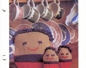 KNITTING Tea and Egg COZIES Pattern - Tea Pot and Eggs - Tea Cosie Egg Cosies Original Kenyon Books