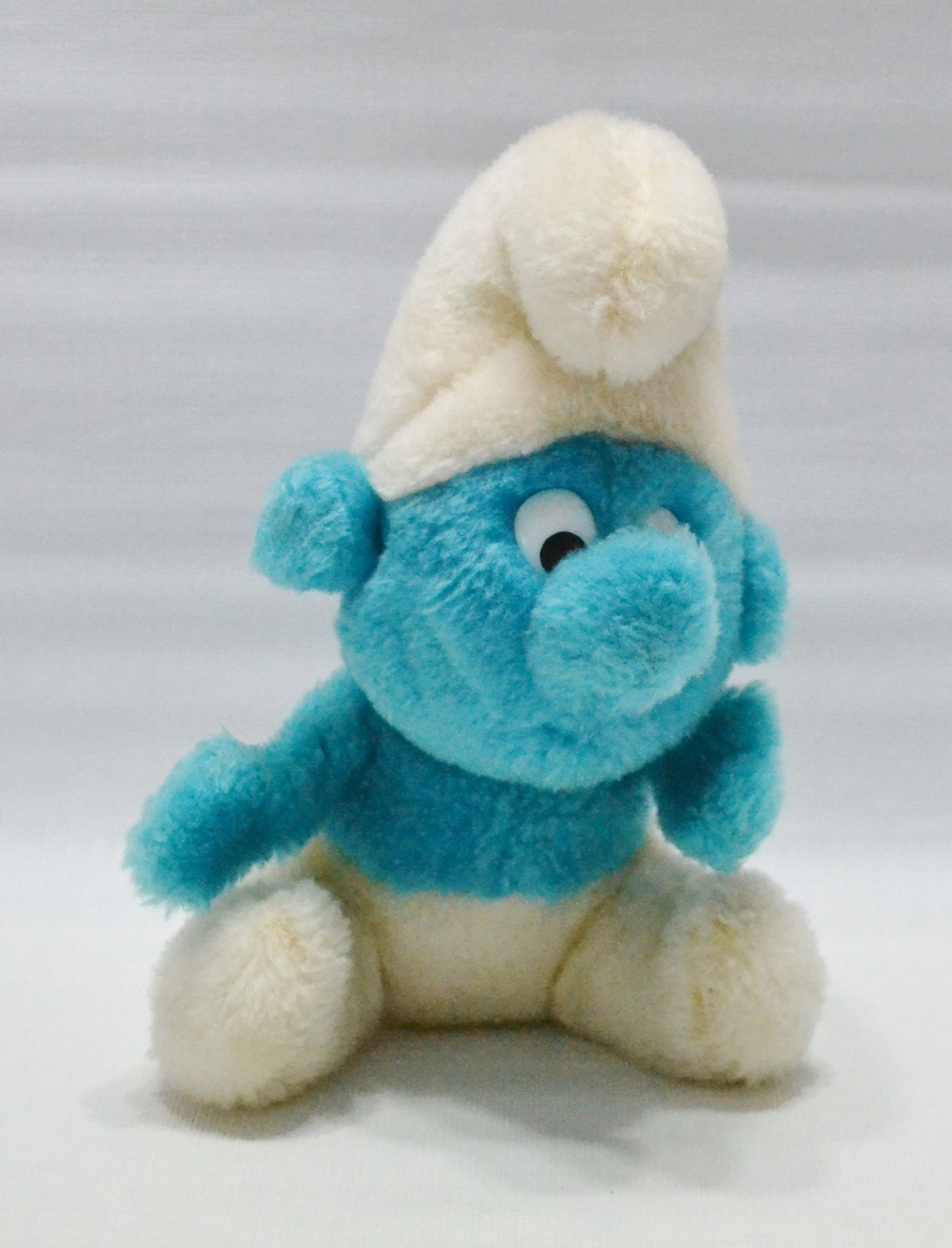 Vintage Stuffed Smurf Doll Toy Plush 1980