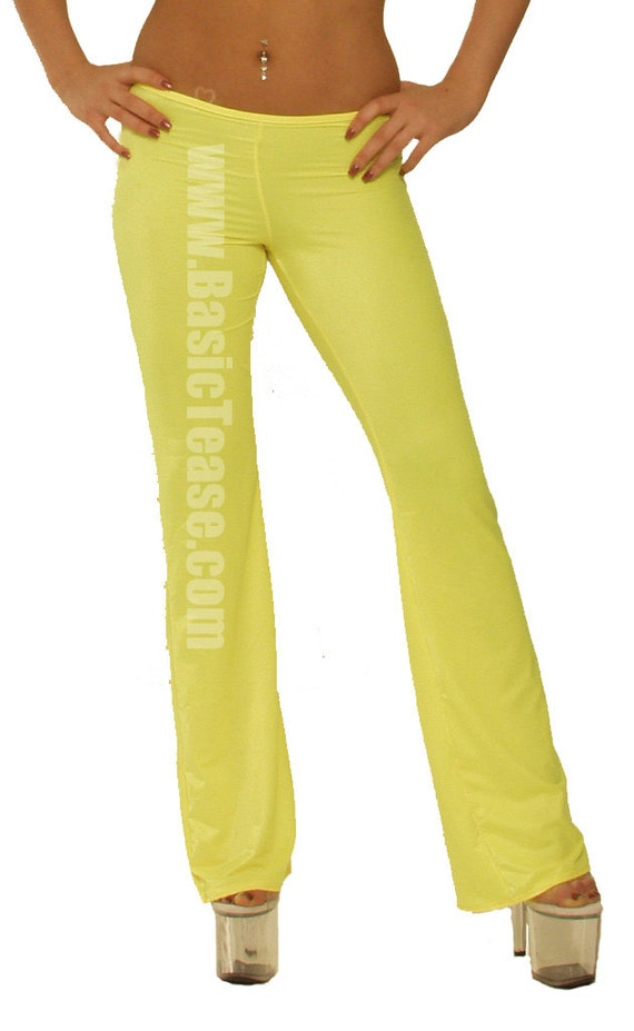 Sexy Stripper Low Rise Flare Bottom Pants for Exotic Dancers or Yoga Class