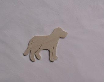 5 x Wooden Embellishment - Doggy - 11.5cmx 8.5cm Decoupage Art Craft