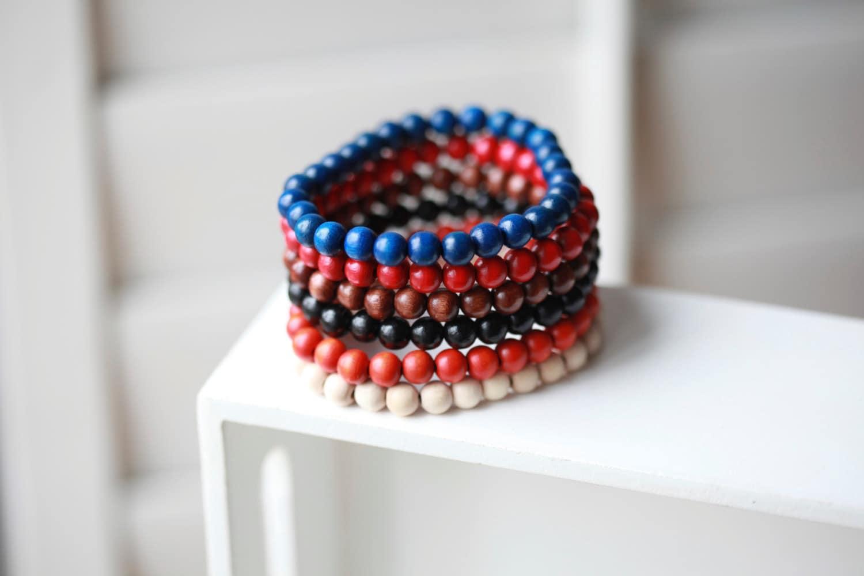 mens wood bracelet mens bracelet beaded mens bracelet. Black Bedroom Furniture Sets. Home Design Ideas