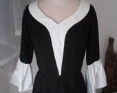 Black and White 60s Vintage Small Dress
