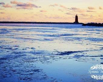 Beautiful Manistique lighthouse print.