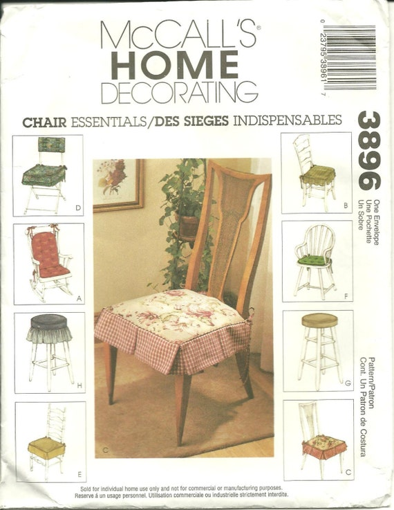 Mccall 39 S 3896 Chair Essentials Sewing Pattern By