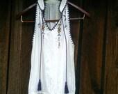 Embroidered Boho Gypsy Sleeveless Top