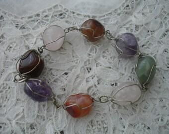 bracelet with semi precious stones 1960's