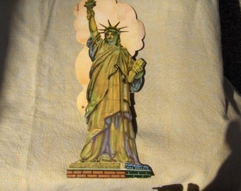 Max Poschinn Statue Liberty Postcard copyright 1952