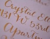 Handwritten Calligraphy in BOMBSHELL font