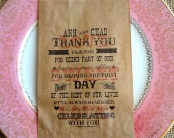 Wedding Favor Bags - Candy Buffet Bags-Personalized Wedding Favor Bags-Party Favor