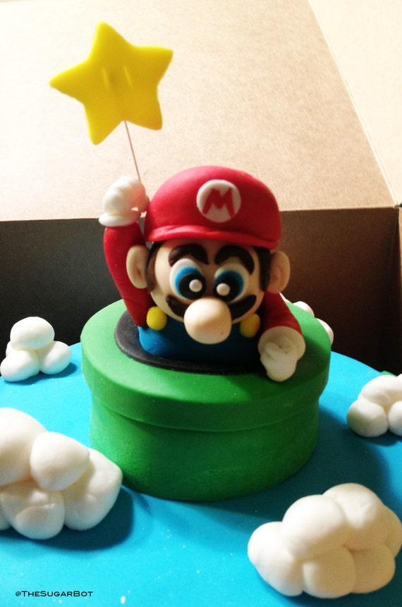 Super Mario fondant icing tunnel