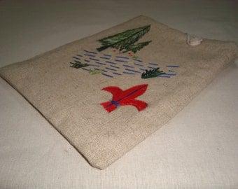 SALE Handmade Kindle Sleeve Hemp Scout design