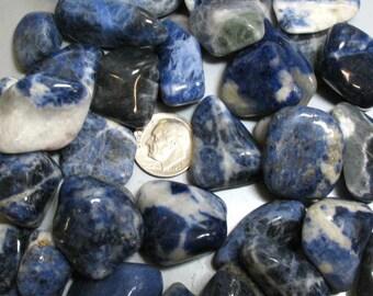 3 Sodalite Tumble Polished Stones - Item 17636
