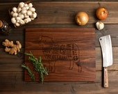 Wooden Lamb Butcher Diagram Cutting Board - 12x16 - Laser Engraved - Foodie, Dad, Mom, Barbecue, Couple, Wedding Valentine's Day