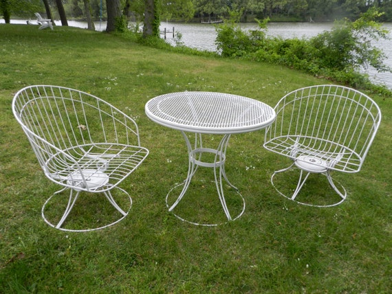 HOMECREST Pair Mid Century Outdoor Tub Chairs