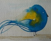 Simple Chaos: Plump Birdie Original Watercolour Series