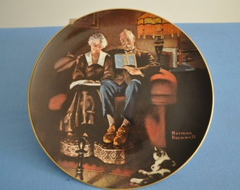 "Norman Rockwell Only Limited Edition of ""Evening Ease"" Produced by Edwin M. Knowles"