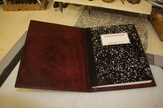 Leather Book Cover Ideas ~ Leather composition book cover