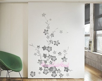 Baby Girl Wall Decal Nursery Wall Sticker Butterfly Flower Wall Decor Cherry  Blossoms Decal  Part 95