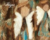 Original painting acrylic  painting print mixed media angels notecards