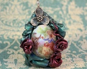 Captivating - reproduction cameo and sculpey pendant