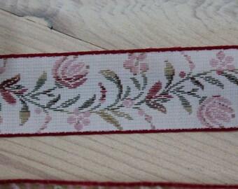Woven Floral Jaquard Ribbon Trim