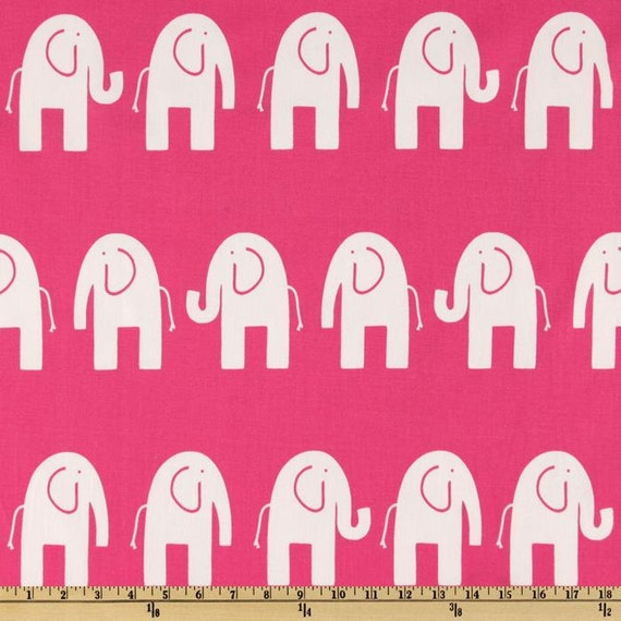 Pink Elephant Fabric By The Yard Home Decor By Fabricsecret