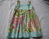 Private Listing for  daisyollie- Tie Knot Dress Made to Order in Kumari Garden designer fabric