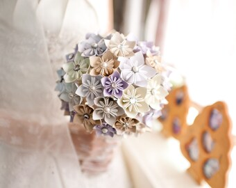 Paper Kusudama Flower Wedding Bouquet - Custom