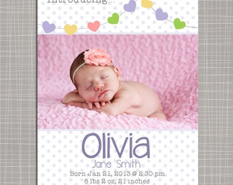 Birth announcement template 5x7 boy birth announcement for Baby birth announcements templates for free