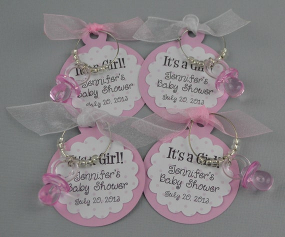 items similar to personalized it's a girl baby shower favors wine, Baby shower