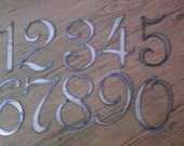 6 inch Letters Numbers PER NUMBER Rusty Vintage French Style Metal Steel Wall Art Ornament Magnet Stencil