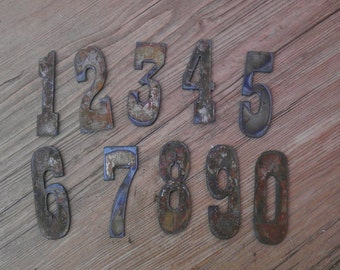 3 inch Letters Numbers PER NUMBER Rusty Vintage Western Style Metal Steel Wall Art Ornament Magnet Stencil