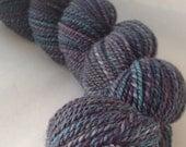 The Saddest Place - dyed in the wool, bfl superwash sock yarn, hand dyed, millspun