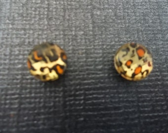 Unique Handcrafted Magnetic Animal Print Earrings