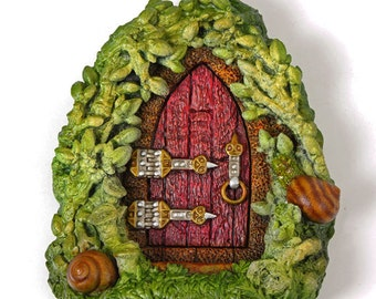 Summer Snail Fairy Door