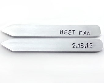 gifts for groomsmen, groomsman gift, bestman gift, collar stays, shirt stays, personalized gifts for men, wedding party gift