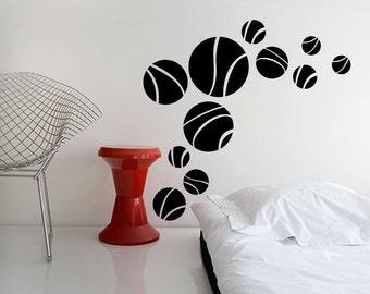 Retro Wall Decal Cute Vinyl Sticker Home Arts Circles Wall Decals Polka Dots WT075