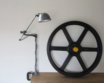 O.C. White Industrial Machine Lamp