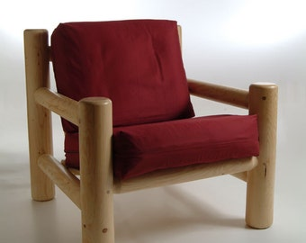 Log furniture Rustic Snow Creek Easy Chair