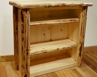 Rustic Mountain Hewn Small Bookcase