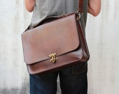 CIJ SALE, Leather Briefcase -- Men's Briefcase - Leather Briefcases - Messenger Bag - Women's Leather Briefcase - Brown Business Briefcases - JooJoobs