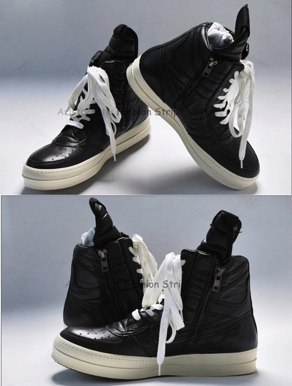 Indie Designs Custom Made Rick Owens Style Classic High Top ' Nike ' Sneakers